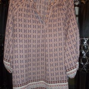 3 for 25 Willi Smith XL geometri floral top NWOT